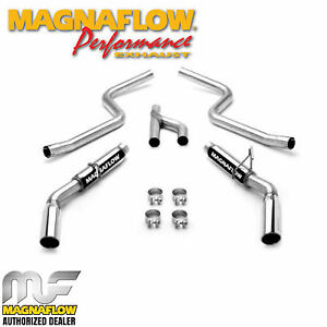 Magnaflow Cat Back Dual Exhaust System 2005 2009 Ford Mustang 4 0l V6 16605