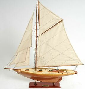 Pen Duick Sailboat 28 5 Wooden Model Yacht Ship Assembled