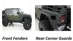 Smittybilt 07 17 Fits Jeep Jk Wrangler Xrc Rear Guards Front Fender Flares Set