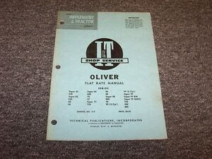 Oliver Super 99 Gm Gmtc 950 990 995 80 88 880 90 66 660 Tractor Flat Rate Manual