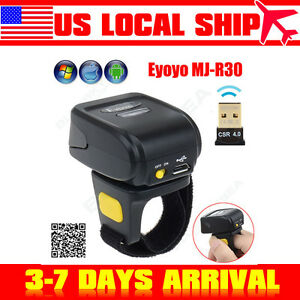 Wireless Bluetooth Ring 2d Barcode Scanner Reader For Apple Ios Android Windows