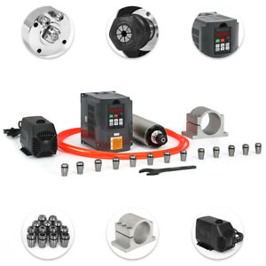 2 2kw Water cooled Spindle Motor hy Inverter pump pipe clamp collet Set wrench