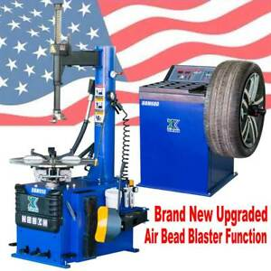 New 1 5 Hp Tire Changer Wheel Changers Machine Balancer Rim Clamp Combo 950 680