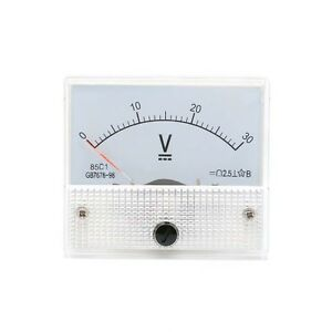 New 0 30v Dc Voltmeter 85c1 Analog Voltage Panel Meter Volt Table 65 56mm