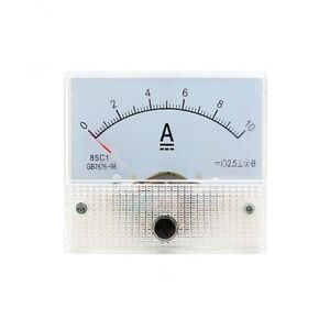 0 10a Dc Ammeter 85c1 Analog Panel Meter Ammeter Amperemeter 65 56mm With Shunt