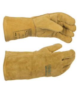 Weldas Mig mag Welding Gloves Premium Quality Split Leather Size S L Xl Xxl