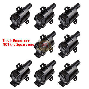 Round Ignition Coils For Chevy Silverado 1500 2500 Gmc 5 3 6 0l 4 8l Uf 262 D585