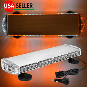 38w Emergency Amber white Led Strobe Magnetic Roof Mount Mini Led Light Bar