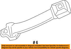 Ford Oem Front Seat Belts Extension 6c3z16611c22aa