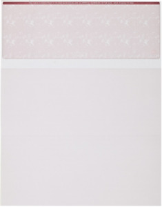 Blank Check Paper Stock on Top burgundy Marble 1000 Count
