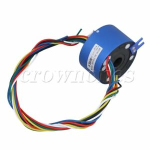 6way 380v 10a 12 7mm Dia Via Hole Capsule Slip Ring For Monitor Robotic