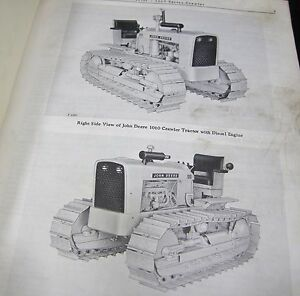 1967 John Deere 1010 Series Crawler Tractor Parts Manual Book Catalog Jd Pc727