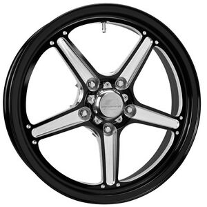 17x4 5 Billet Specialties Street Lite Black 1pc Wheel 5x4 75 2 Bs Rsfb037456120n