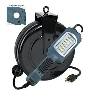 Professional Retractable Reel Garage Shop Led Work Light 1000 Lumens 5030ahs