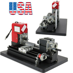Mini Metal Working Lathe Motorized Machine Diy Tool Metal Woodworking From Usa