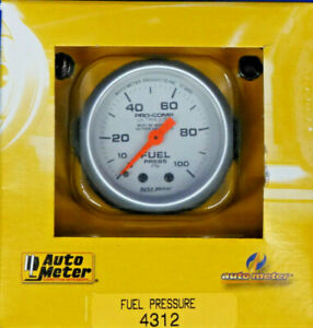 Auto Meter 4312 Ultra Lite Mechanical Fuel Pressure Gauge 2 1 16 0 100 Psi