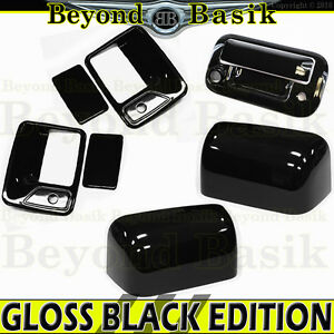 08 16 Ford F250 Gloss Black Door Handle Covers Wpk 1 2 Mirror tailgate Wcam