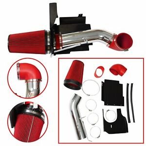Cold Air Intake System kit heat Shield Red For 99 06 Gmc chevy V8 4 8l 5 3l 6 0l