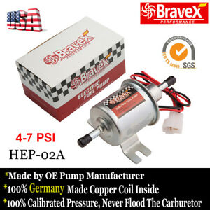 Bravex Universal Low Pressure Gas Diesel Electric Fuel Pump 12v Hep 02a Metal