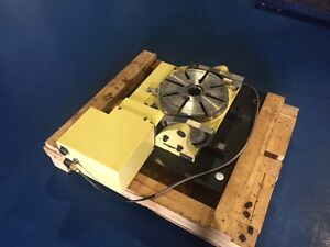 Nikken Rotary Table Nst300 Manual Tilt With A06b 0313 b031 Motor 4th Axis 5th