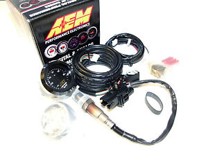 Aem Digital Wideband Air Fuel Ratio Uego O2 Controller Gauge Kit Bosch 4 9 Lsu