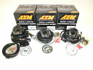 Aem 3 Gauges Combo Uego Wideband A F Ratio Oil Temperature Turbo Boost