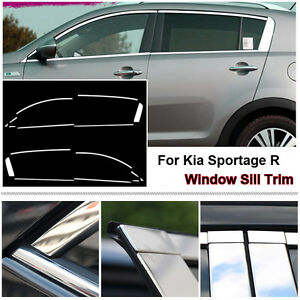 Full Window Frame Molding Trim Cover Stainless Steel For Kia Sportage R 09 13