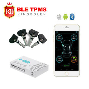 Car Bluetooth 4 0 Tpms Monitor Alarm System Andriod Ios Tire Pressure 4 Sensors