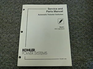 Kohler E33 Logic Board Automatic Transfer Switch Parts Catalog