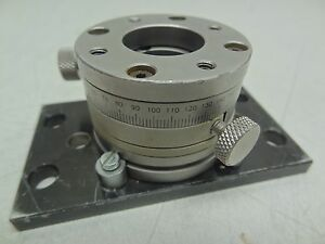Newport Utr46sa Precision Low profile Aperture Rotation Stage Rotary Mount