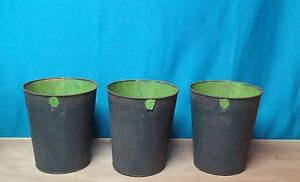 3 Old Tin Sap Buckets Maple Syrup Planters Flowers L K Great Decor