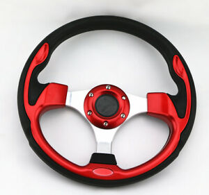 Universal 320mm Jdm 6 Bolt 5125 Red Aluminum Racing Steering Wheel Horn Button