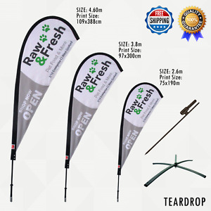 Teardrop Flag Kit Custom Printed With Your Brand Or Logo Free Design Support
