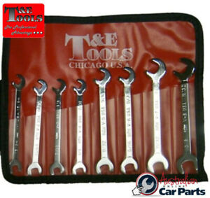 8 Piece Sae Open End Ignition Wrench Set T e Tools 5580 New