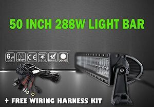 Led Light Bar Kit 50inch Led Work Light Bar 288w Straight Truck Offroad Atv Suv