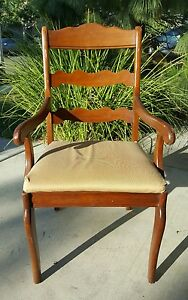 Vintage Pennsylvania House Cherry Ladderback Dining Room Arm Chair Needs Restore