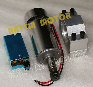 300w Air Cooled Spindle Motor Cnc Kit 12 48vdc 12000rpm 52mm Clamp speed Control