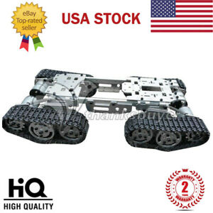 Toy Tank Car Truck Robot Chassis W Motors Caterpillar Chassis Intelligent Us