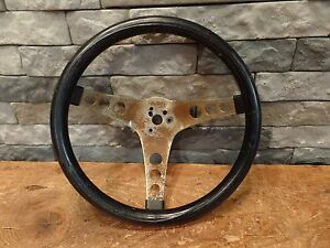 Hot Rod Steering Wheel Vintage the 500 12 Black Rat Rod Gasser Old School