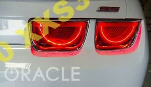 Oracle Chevrolet Camaro 10 13 Red Led Tail Light Halo Rings Afterburner