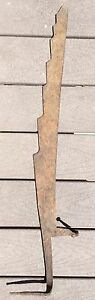 Antique Primitive Rusty Iron Hay Saw Knife 33 Long Country Farm Cabin Decor