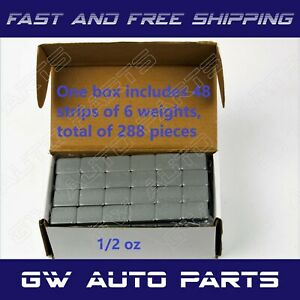 1 Box 1 2 Oz Wheel Weights Stick On Adhesive Tape 9 Lbs 288pcs Lead Free