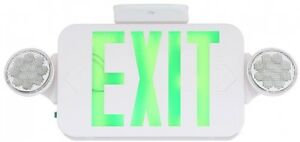 Progress Lighting Thermoplastic Led Emergency exit Sign With Green Letters