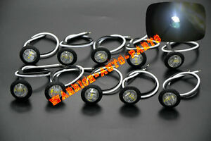 10x 3 4 Marker Lights White Triple Diode Led Truck Trailer Clearance Indicator