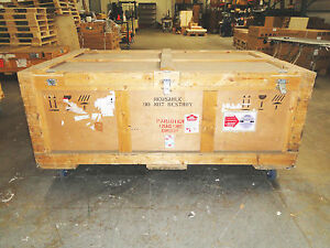 Large Wooden Shipping road Case On 4 Casters
