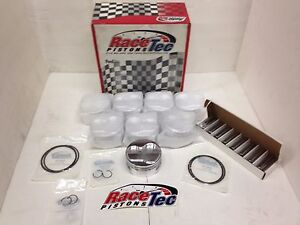New Racetec Sbc 18 Degree Dome Pistons Rings 4 130 Bore 3 875 Stroke Je Ross