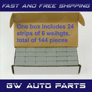 1 Box 1 oz Wheel Weights Stick-on Adhesive Tape 9LB 144 Pcs Lead Free