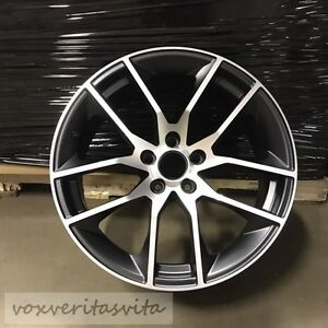 19 Staggered Black Machine Mustang Gt Style Wheels Rims Fits 05 09 Ford Mustang