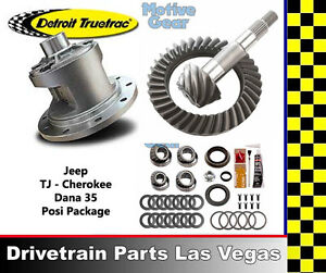 Jeep Wrangler Tj Detroit Truetrac Dana 35 Posi Pkg Gear Set And Master Kit 4 11