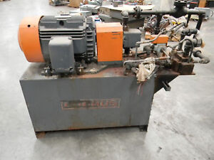 Lummus Hydraulic Unit Tank And 40 Hp Motor